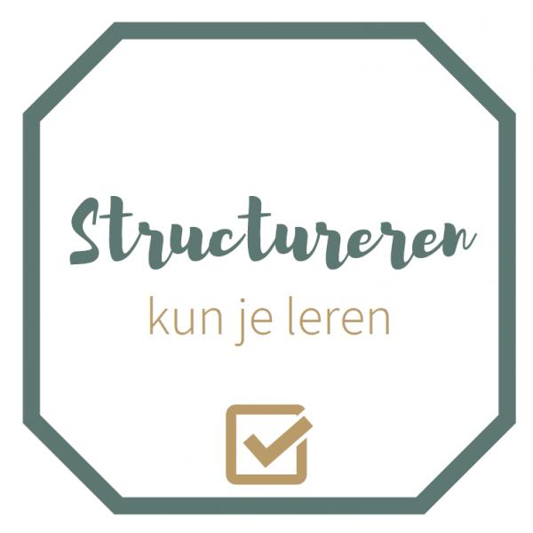 Structureren kun je leren